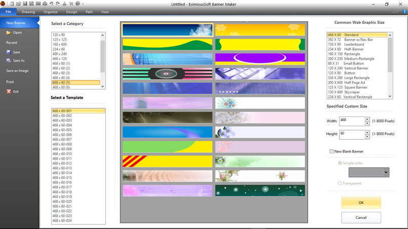 Click to view EximiousSoft Banner Maker 5.25 screenshot