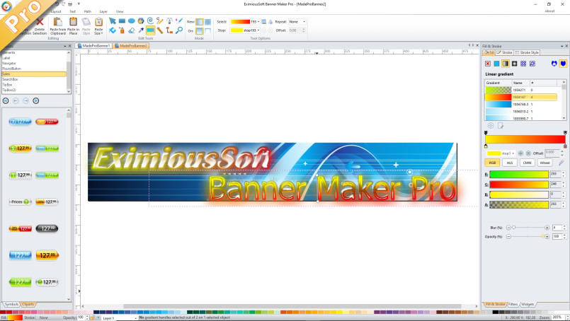 EximiousSoft Banner Maker Pro Screen shot
