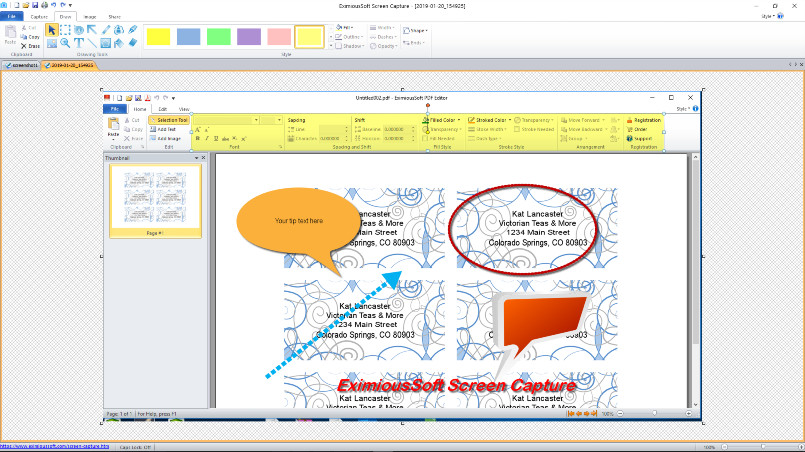 Windows 7 EximiousSoft Screen Capture 2.10 full