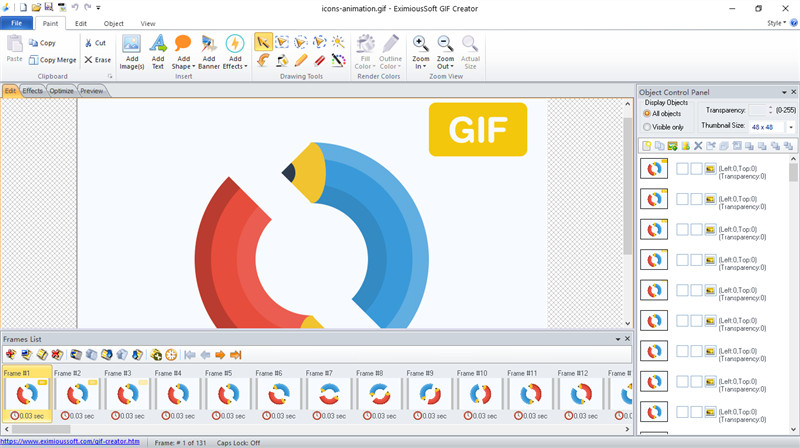 Create high quality and impact GIF animation.