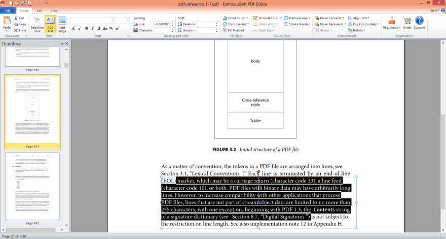 EximiousSoft PDF Editor full screenshot