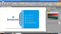 Main interface of Business Card Designer Pro
