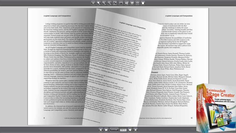 Flipbook Software-create perfect flipping e-books