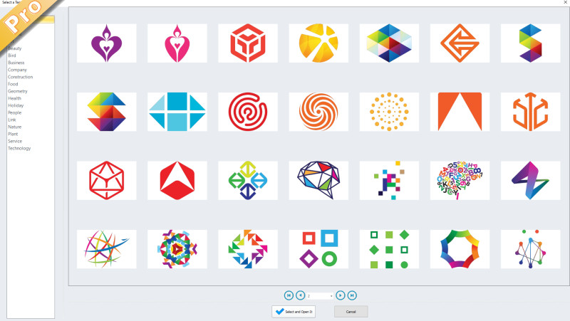 Select a logo template
