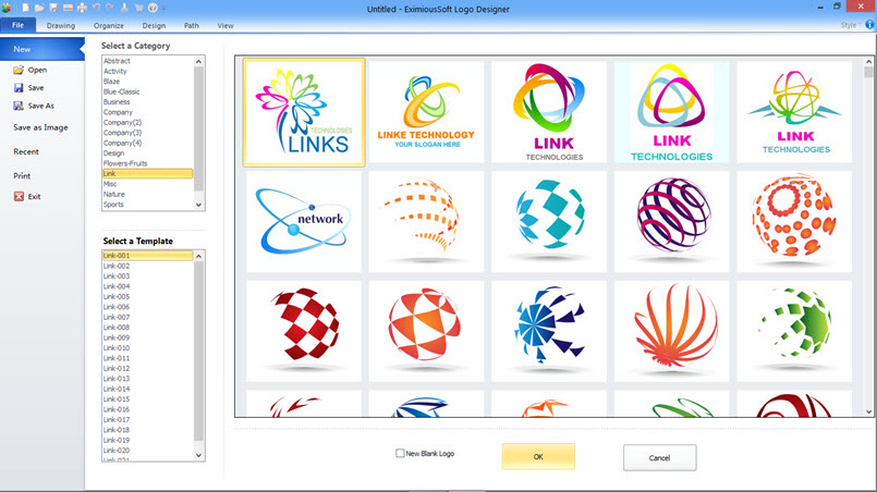 Screenshots of eximioussoft logo designer pro for Logo drawing tool