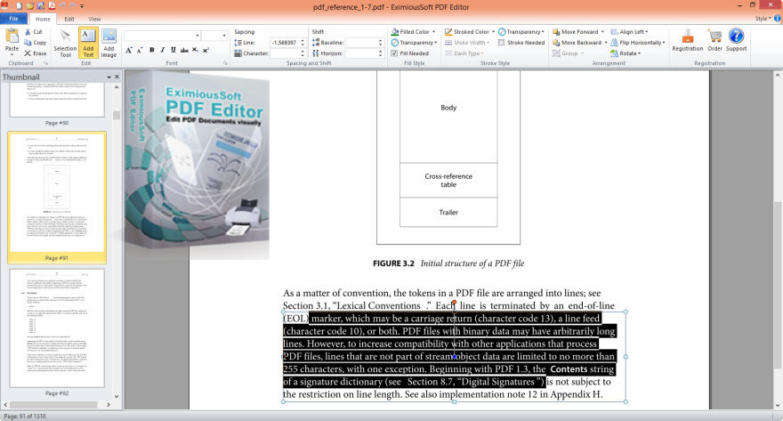 Main interface and boxshot of PDF Editor