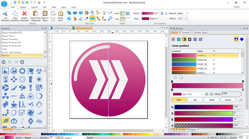 Edit Icon with Gradient Tool